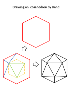 Drawing an Icosahedron by Hand